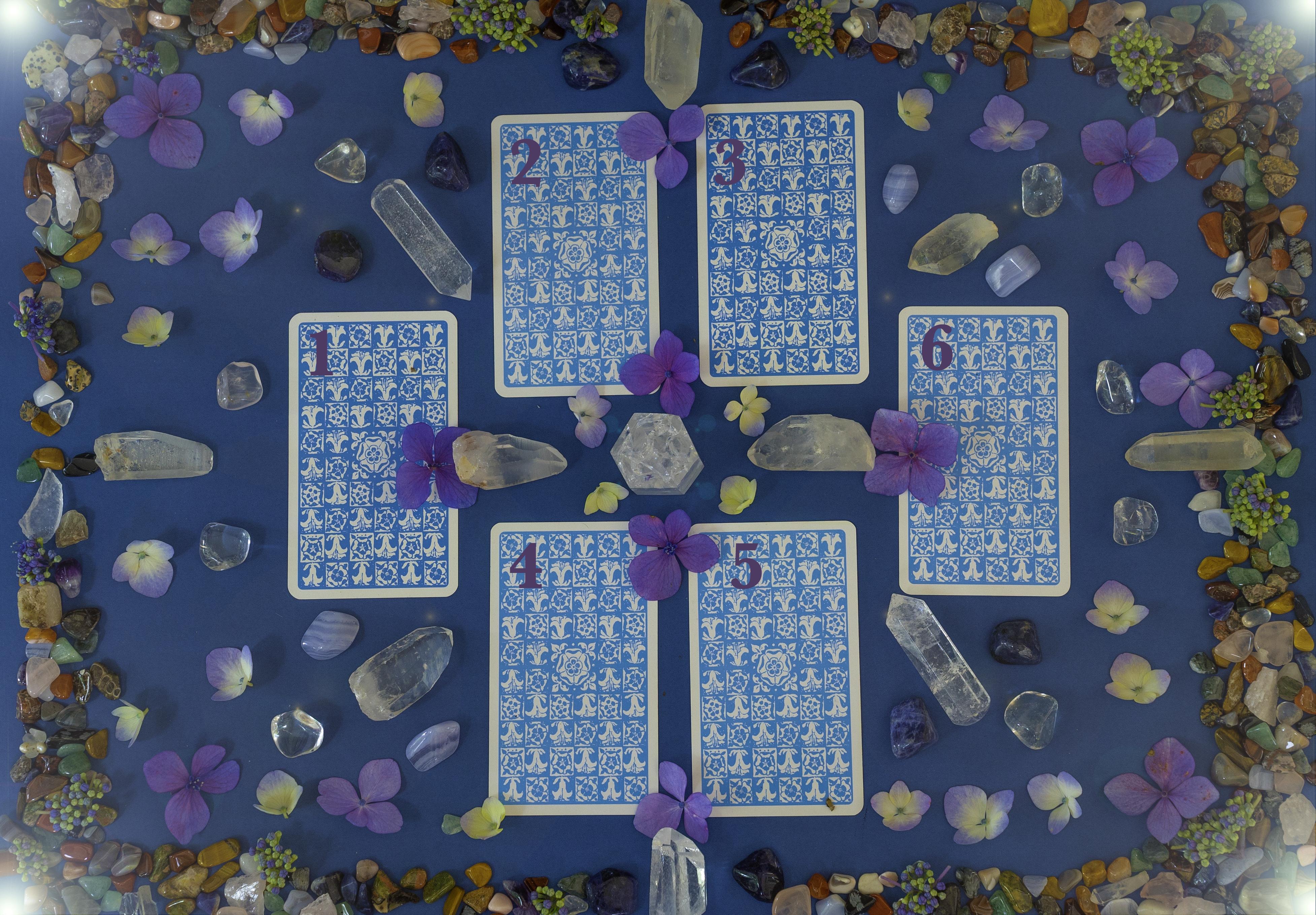 Six Card Free Tarot Reading - Choose Two Tarot Cards
