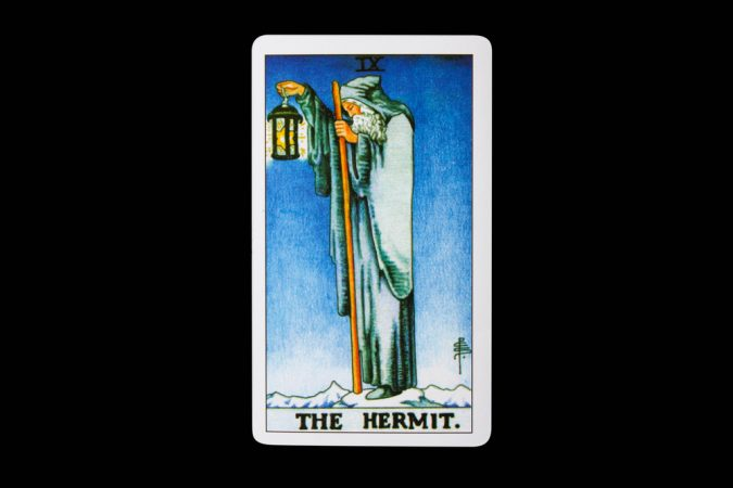 Tarot card The Hermit