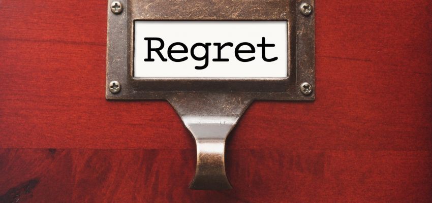 What is the psychic message of regret?
