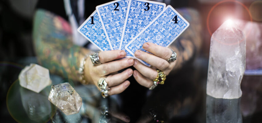 Four Tarot cards