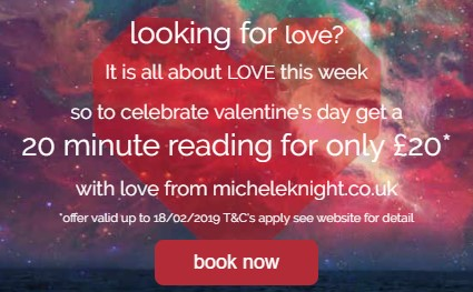 Valentine psychic reading offer